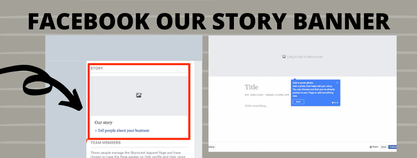 Facebook Our Story Banner $75